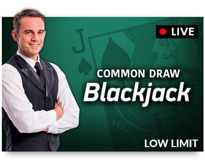 NetEnt Live Common Draw Blackjack Low Risk