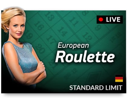 NetEnt Live European Roulette German Standard Risk